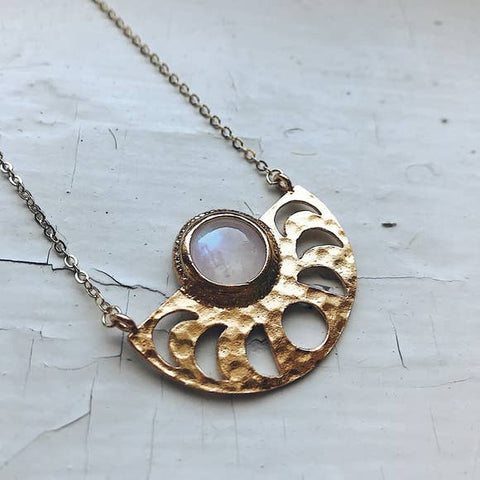 Moon Goddess Necklace with Moonstone