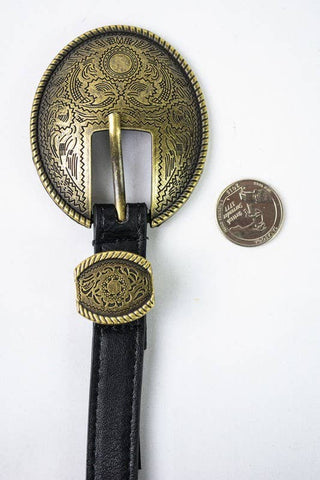 Oval Embossed Vintage Style Belt