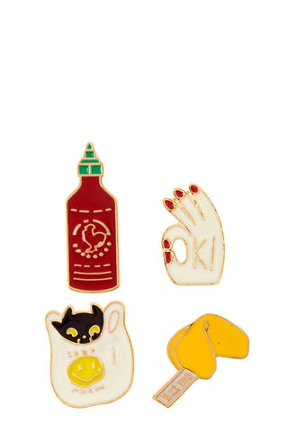 Sriracha Enamel Pin Set