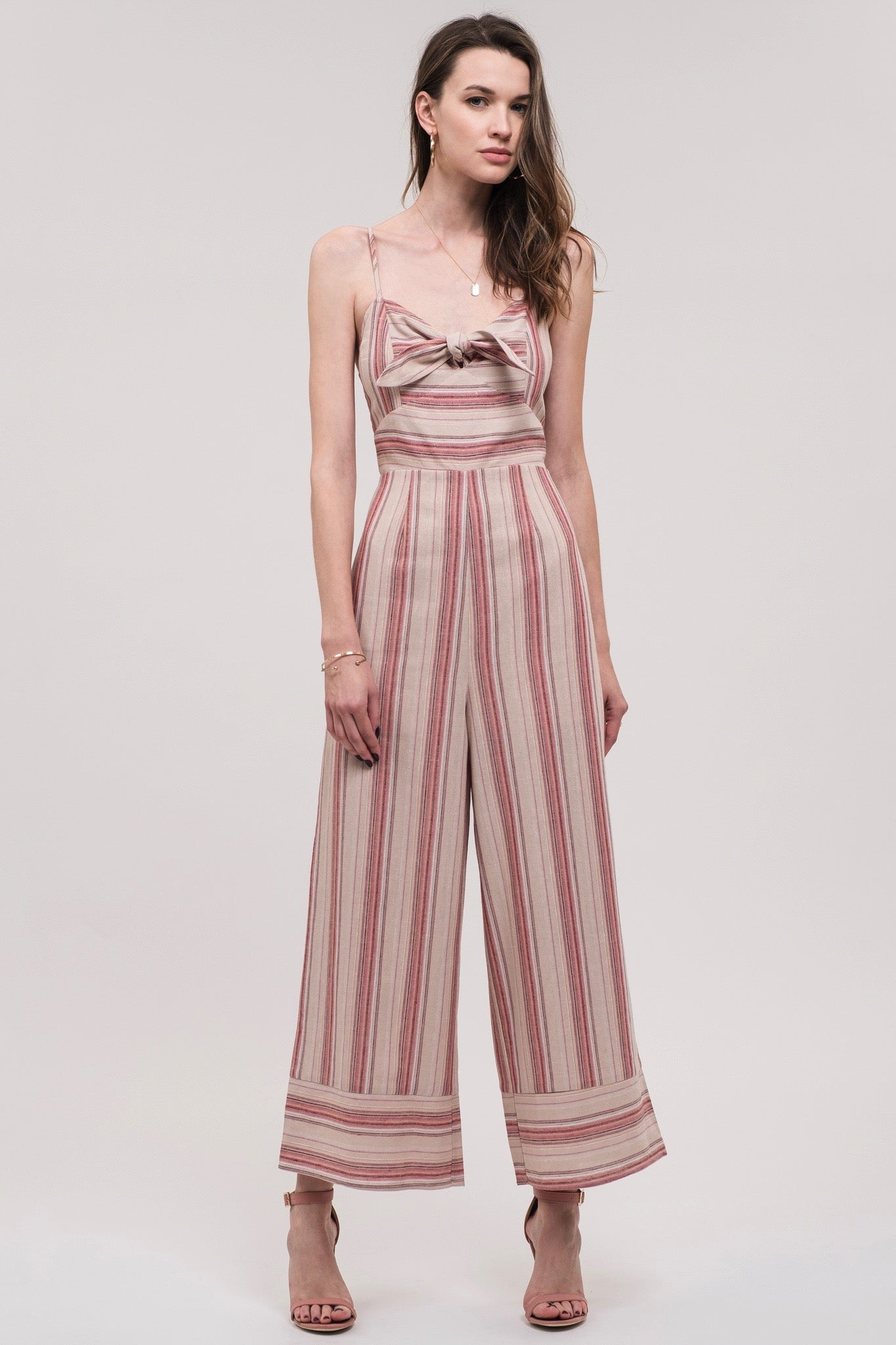 J.O.A. Striped Jumpsuit