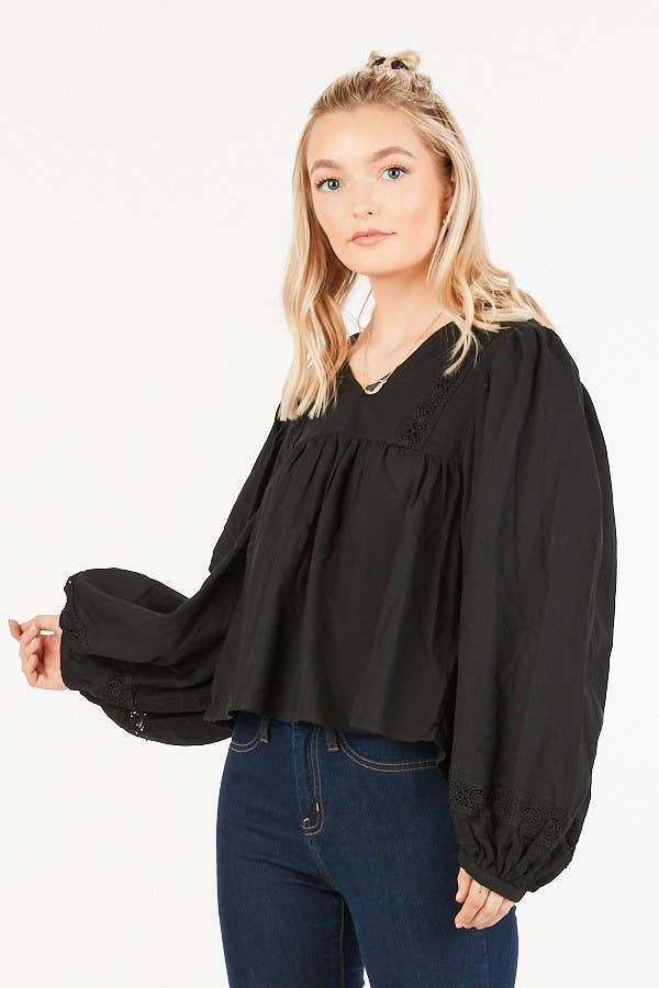 Loveriche Puff Blouse