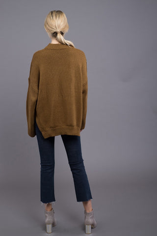 JOA Cable Crew Sweater