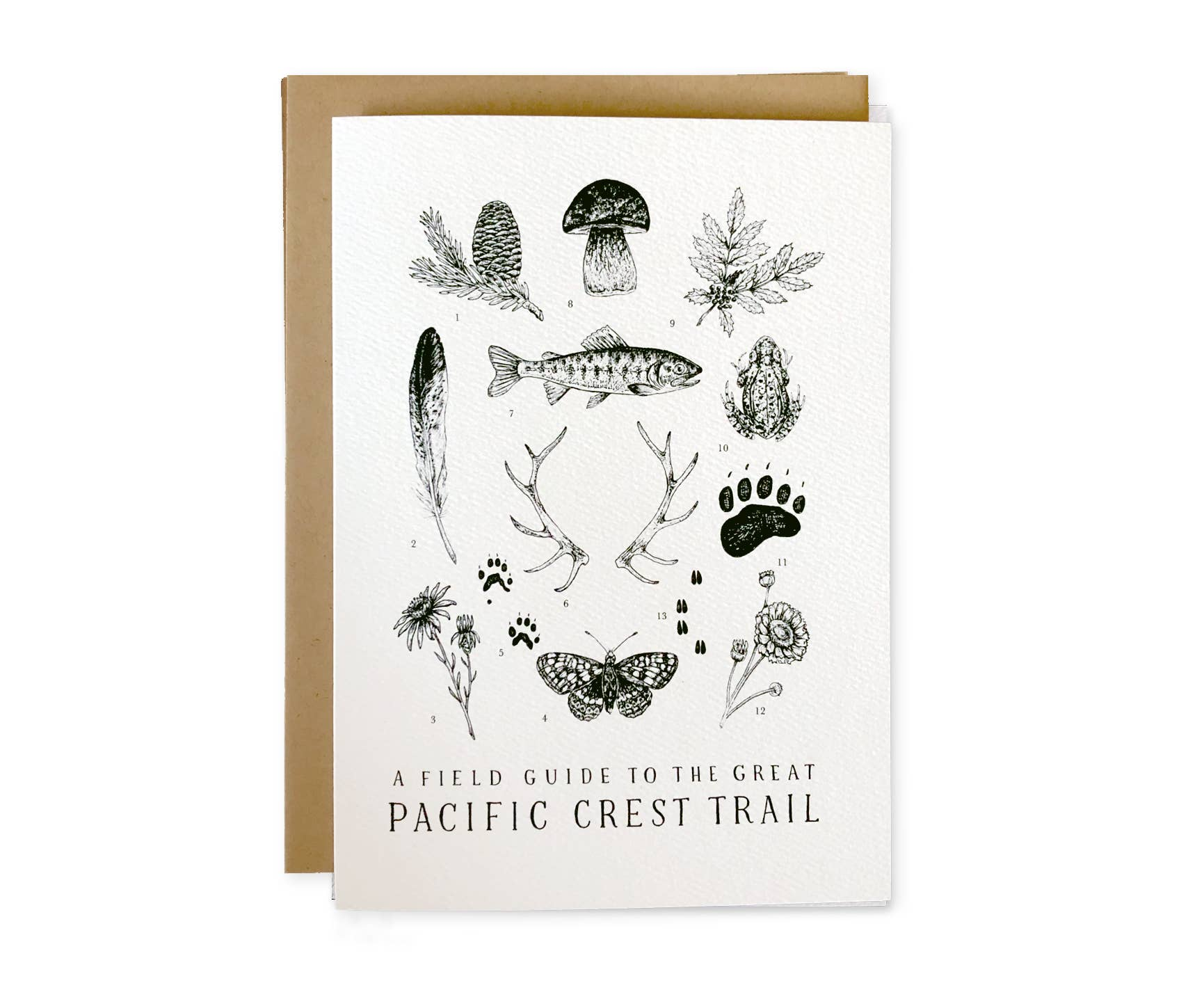 Pacific Crest Trail Letterpress Greeting