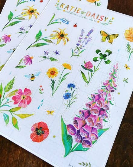 Wildflower Sticker Sheet