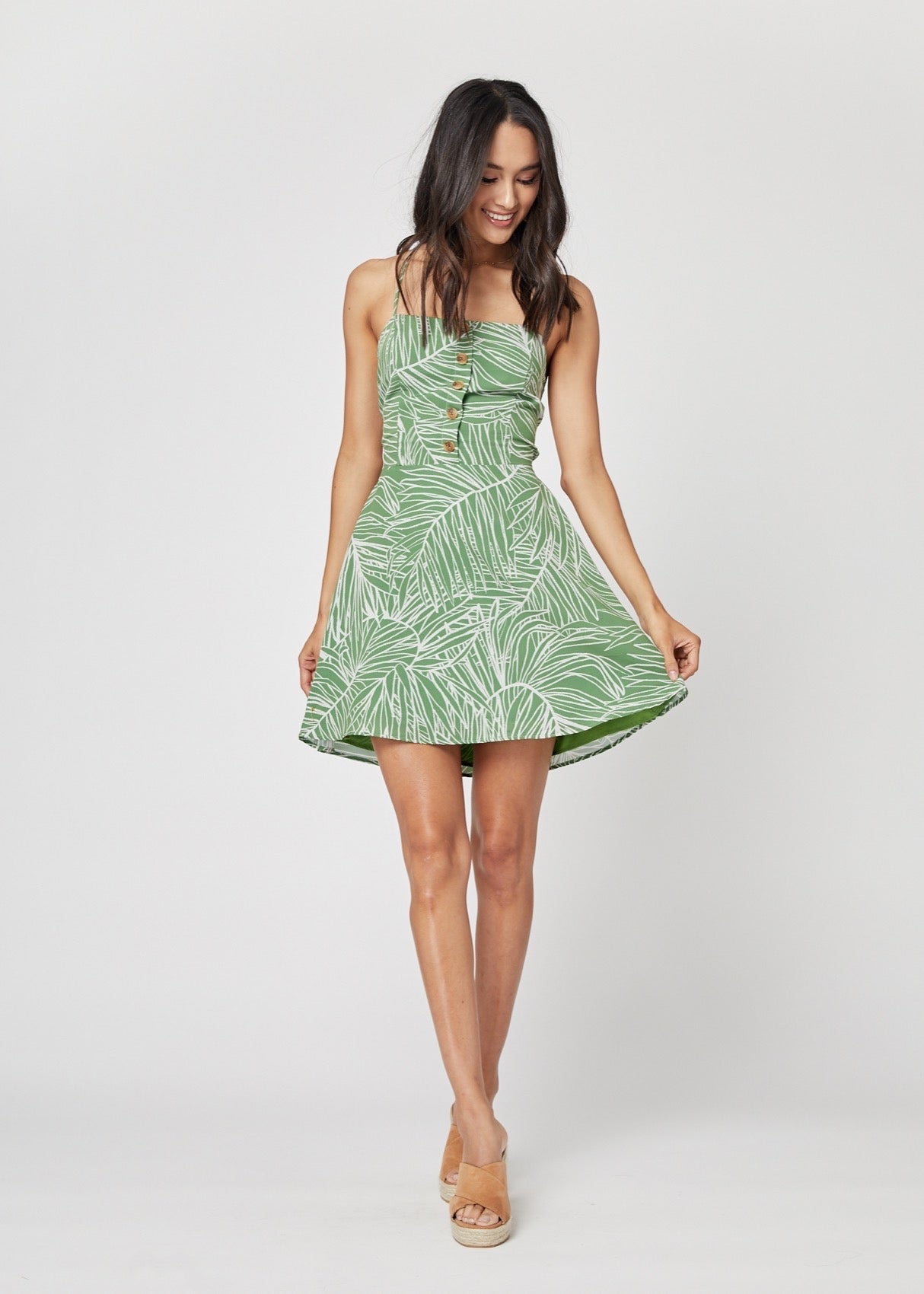 Lost + Wander Vines Mini Dress