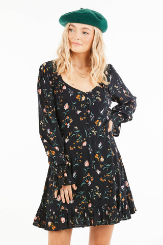 Loveriche Bell Sleeve Mini Dress