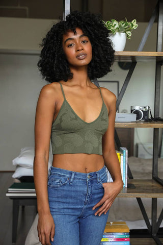 Seamless V Neck Bralette