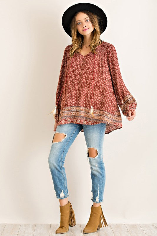 Willow Peasant Blouse