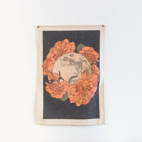 Flower Moon Wall Hanging