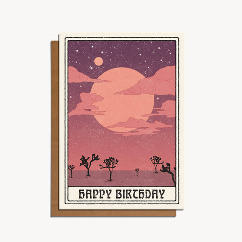 Desert Moon Birthday Greeting
