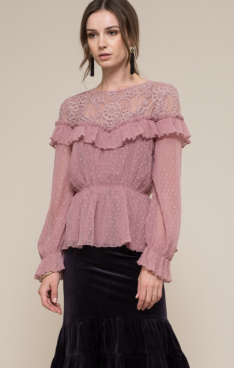 Moon River Lace Blouse