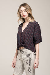 Moon River Tie Blouse