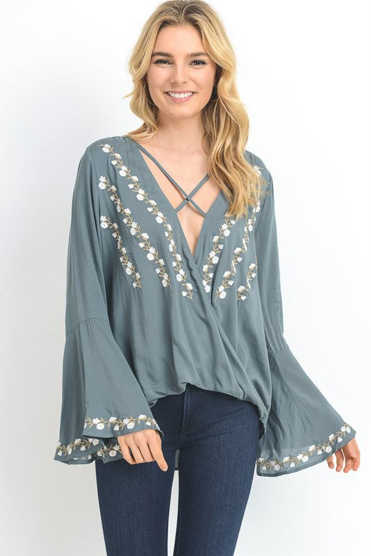 Kailey Embroidered Blouse