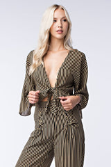 Honey Punch Striped Bolero