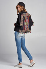 Taissa Embroidered Denim Jacket