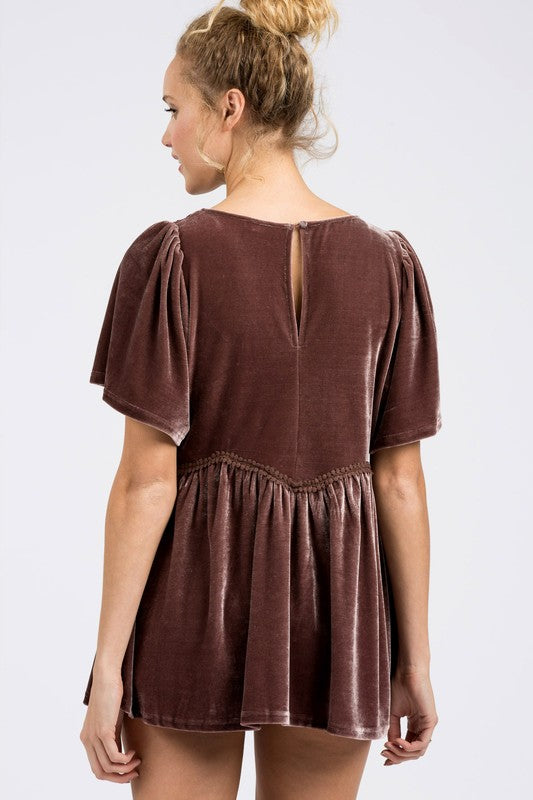 Abbey Velvet Blouse