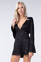 Honey Punch Night Sky Romper