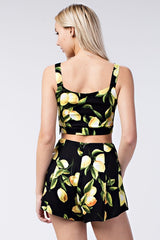 Honey Punch Lemon Crop Top