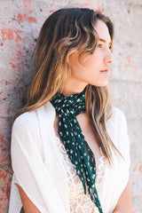 Floral Pleated Scarf