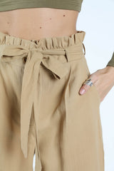 Honey Belle High Waist Paper Bag Pants