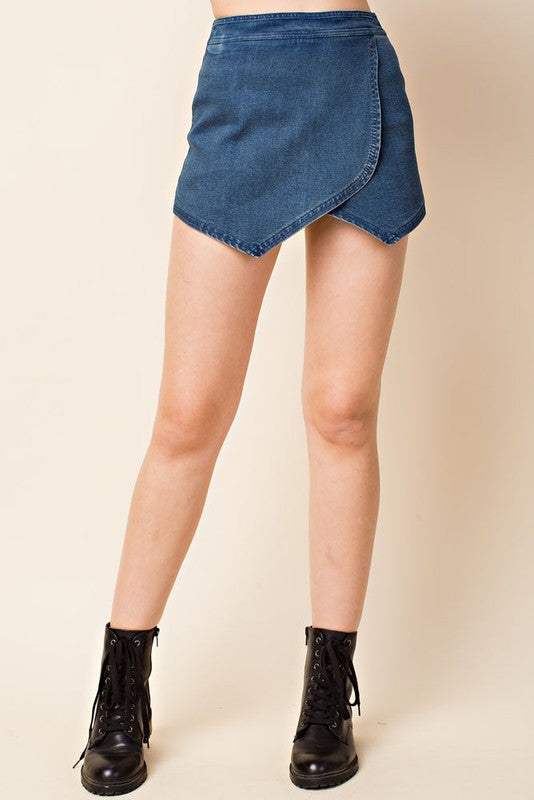 Honey Belle Denim Skort