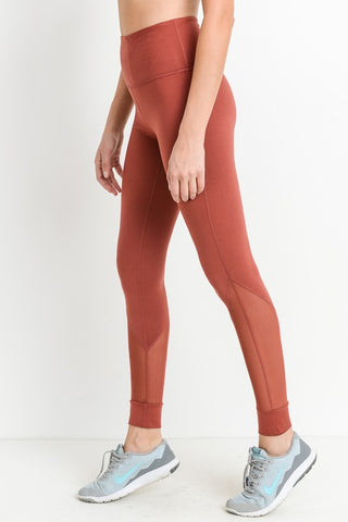 Rust Mesh Leggings