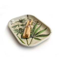 Small Metal Cannabis Ritual Tray