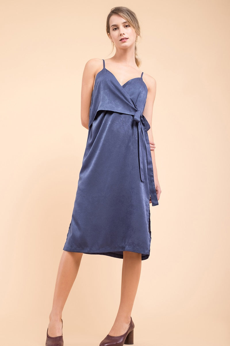 EVIDNT Satin Slip Dress