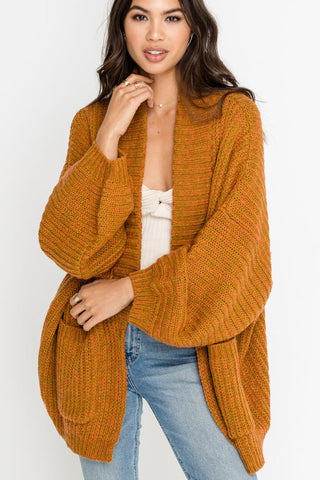 Lush Balloon Sleeve Cardigan