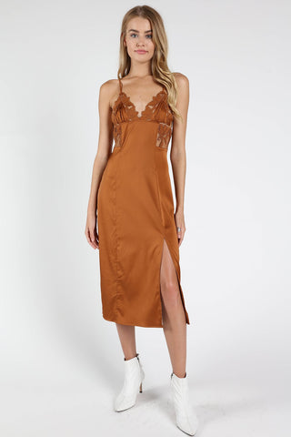 Wild Honey Satin Cami Dress
