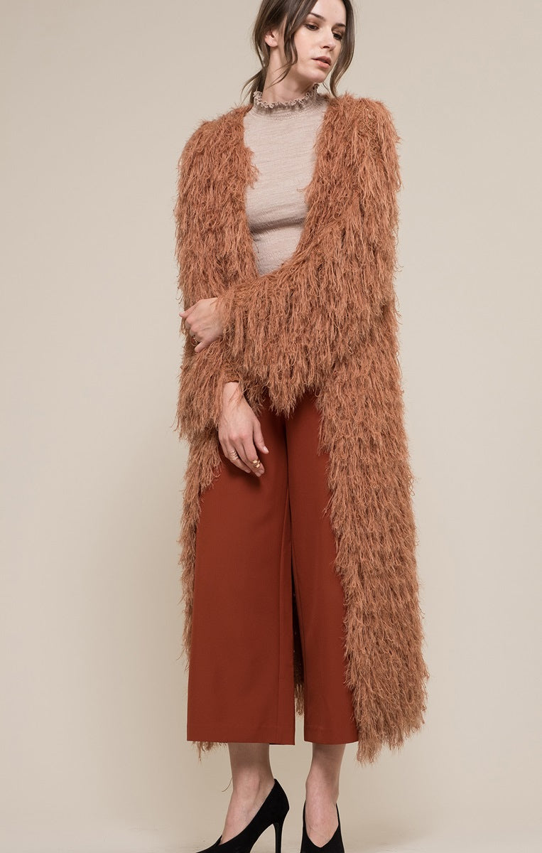 Moon River Fur Duster Jacket