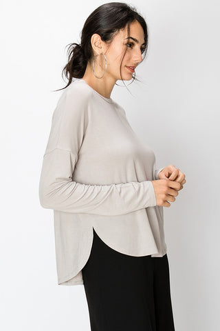 Drop Shoulder Long Sleeve Tee