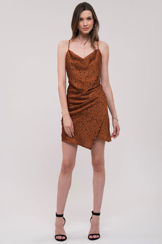 J.O.A. Cowl Neck Leopard Print Dress