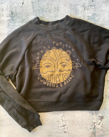 Parks Project Joshua Tree Moon Face Cropped Crew Sweatshirt