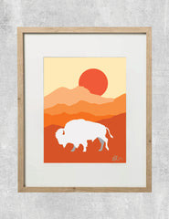 Built to Roam Buffalo Print