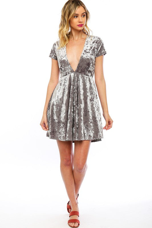 Cloud Velvet Swing Dress