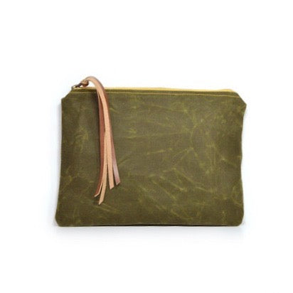 Rachel Elise Waxed Canvas Pouch