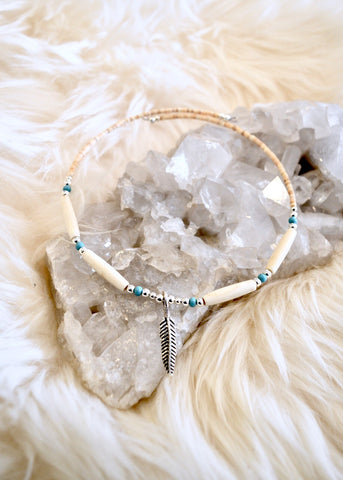 Feather and Bone Choker