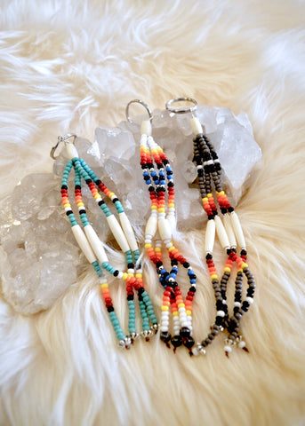 Beaded Fringe Keychain
