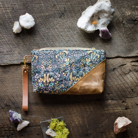 Burst into Bloom Rifle Paper Menagerie Wristlet