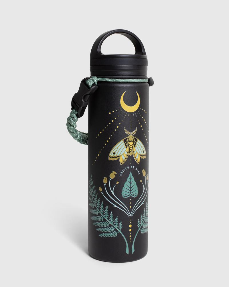 United By Blue Lunar Moth 22 oz. Insulated Steel Water Bottle
