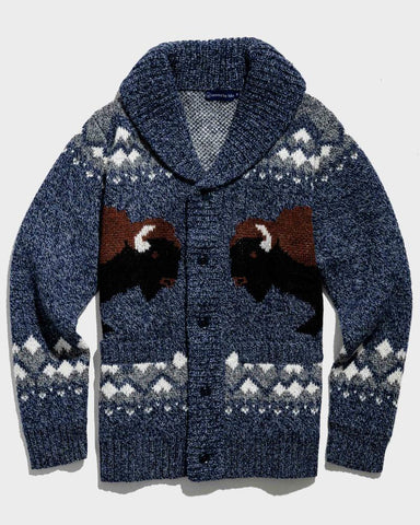 United By Blue Shetland Wool Cardigan