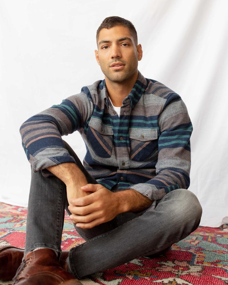 United By Blue Brownstone Men's Responsible Flannel