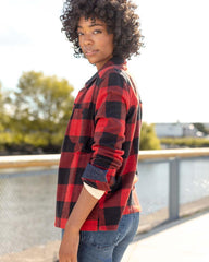United By Blue Womens Buffalo Check Responsible Flannel
