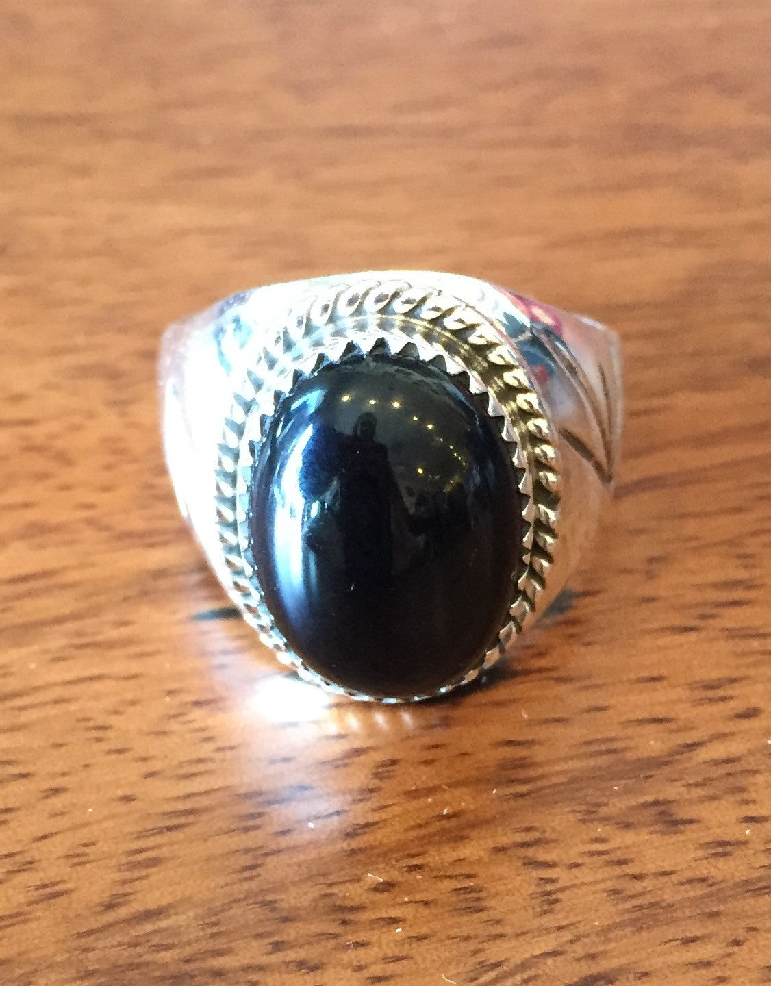 Men's Navajo Onyx Ring