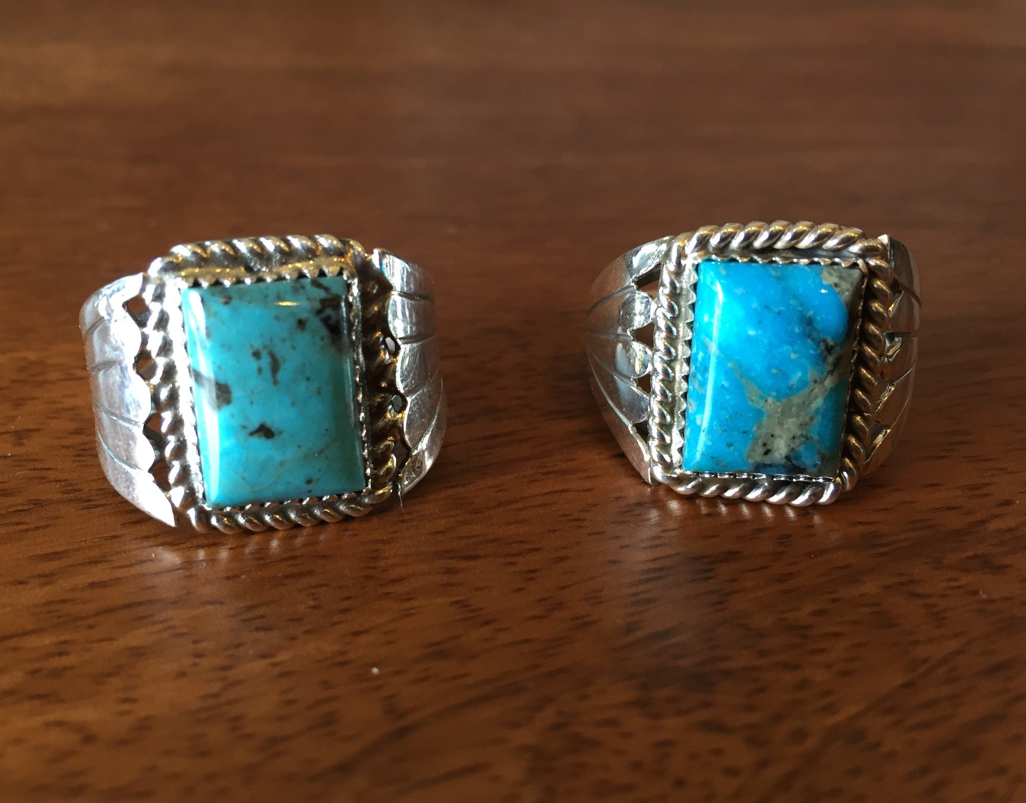 Turquoise Men's Cushion Ring
