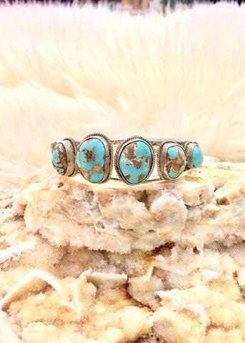 5 Stone Turquoise Cuff