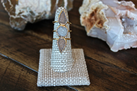 Moon Rising Druzy Ring