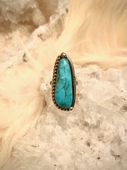 Kingman Blue Turquoise Ring