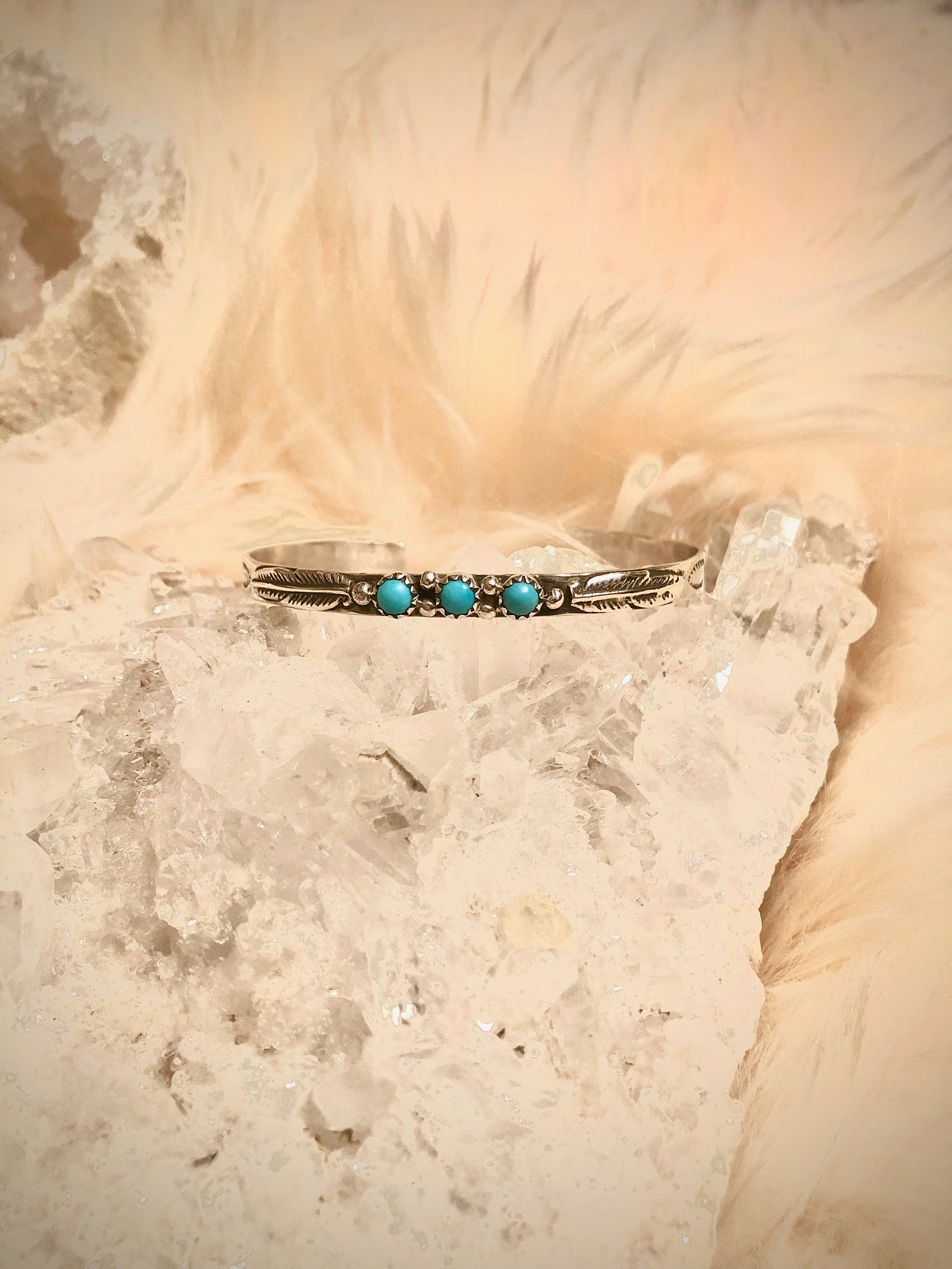 Turquoise Feather Bracelet
